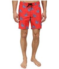 Marc By Marc Jacobs Palm Print Swim Electric Red Multi