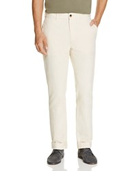 Billy Reid Leonard Slim Fit Chino Pants Cream