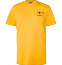 The North Face Printed Cotton Jersey T Shirt Yellow