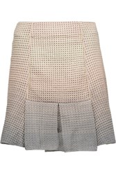M Missoni Pleated Metallic Stretch Open Knit Mini Skirt Multi