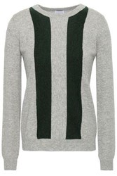 Madeleine Thompson Sha Sta Intarsia Knit Wool And Cashmere Blend Sweater Gray