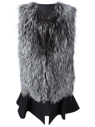 Moncler Padded Fur Gilet Black