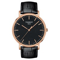 Tissot T1096103605100 'S Everytime Leather Strap Watch Black