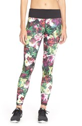 Women's Betsey Johnson 'English Rose' Floral Leggings Bold Berry Combo