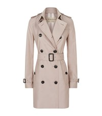 Burberry The Kensington Mid Length Heritage Trench Coat Female Nude