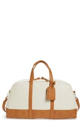 Sole Society Marant Faux Leather Duffle Bag Brown
