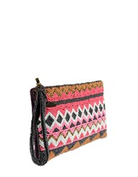 Mary Frances Handmade On The Grid Beaded Wristlet Multi