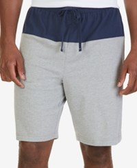 Nautica Men's Lightweight Colorblocked Sleep Shorts Gray