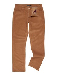 Howick Men's Cambridge 5 Pocket Cord Trouser Camel