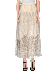 Mes Demoiselles Skirts Long Skirts Women Ivory