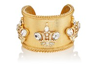 Stazia Loren Women's Crown Charm Wide Band Cuff No Color