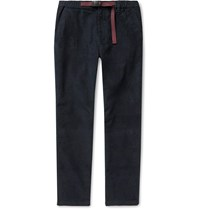 J.Crew Slim Fit Belted Stretch Cotton Corduroy Trousers Blue