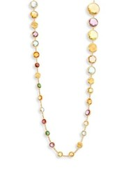 Marco Bicego Jaipur Semi Precious Multi Stone And 18K Yellow Gold Necklace 36
