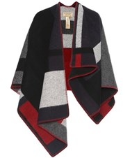 Burberry Wool And Cashmere Blend Poncho Multicoloured
