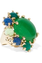 Rosantica Eden Gold Tone Quartz Ring Green