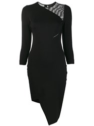 Philipp Plein Asymmetric Fitted Dress Black
