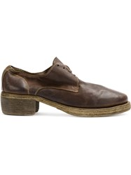 Guidi Stitched Oxford Shoes Women Buffalo Leather 38 Brown