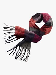 Betty Barclay Check Scarf Red Multi