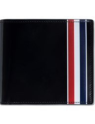Thom Browne Calf Leather Billfold Wallet With Rwb Printed Stripe
