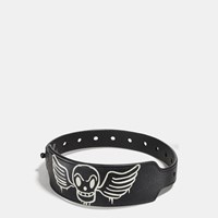 Coach Printed Festival Bracelet Skull Wings Black Chalk