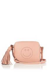Anya Hindmarch Smiley Leather Cross Body Bag Pink