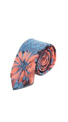 Brooklyn Tailors Floral Necktie Coral Blue