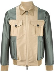 Dsquared2 Contrast Bomber Jacket Nude Neutrals