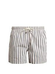 Solid And Striped The Classic Chesapeake Stripe Print Swim Shorts White Multi