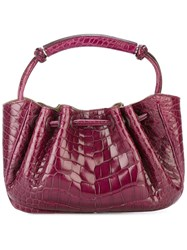 Giorgio Armani Vintage Embossed Clutch Bag Pink And Purple