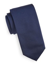 Hugo Textured Silk Tie Navy