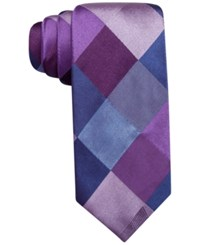 Alfani Spectrum Marion Large Gingham Slim Tie Only At Macy's Purple