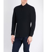 Replay Slim Fit Cotton Stretch Shirt Night Blue