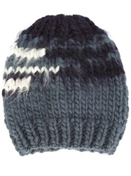 Christopher Raeburn 'X The Woolmark Company Hand Knit' Beanie Blue