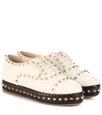 Charlotte Olympia Hoxton Leather Sneakers White
