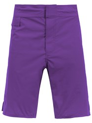 Amir Slama Mid Rise Swim Shorts Pink And Purple