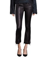 Rta Kiki Leather Cropped Flared Pants Nite