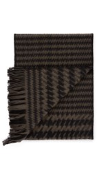 Our Legacy Houndstooth Scarf Black Mudd