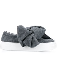 Joshua Sanders Bow Detail Slip On Sneakers Grey