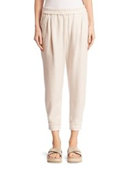 Brunello Cucinelli Double Cashmere Spa Sweatpants Vanilla