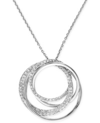 Effy Collection Pave Classica By Effy Diamond Circle Pendant Necklace 3 8 Ct. T.W. In 14K White Gold