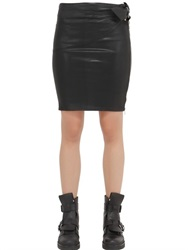Diesel Coated Cotton Blend Jersey Skirt