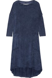 Raquel Allegra Tie Dyed Jersey Dress Storm Blue