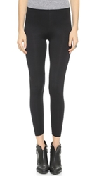 Three Dots Jersey Leggings Black