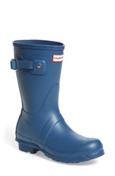 Hunter Women's Original Short Rain Boot Dark Earth Blue