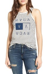 Rvca Women's Higher End Stripe Tank