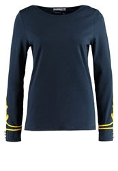 Little Marcel Tigalon Long Sleeved Top Bleu Marine Dark Blue