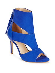 Saks Fifth Avenue Open Toe Stiletto Sandals Cobalt