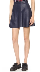 Bb Dakota Dakota Collective Avani Leather Panel Skirt Navy