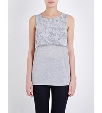 Sweaty Betty Yantra Yoga Jersey Top Silver Grey Marl
