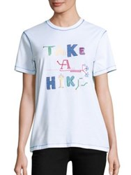 Opening Ceremony Take A Hike Cotton Embroidered Tee White